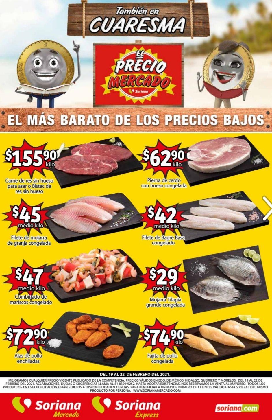 Soriana Mercado y Express: Volante de Ofertas Fin de Semana del Viernes 19 al Lunes 22 de Febrero