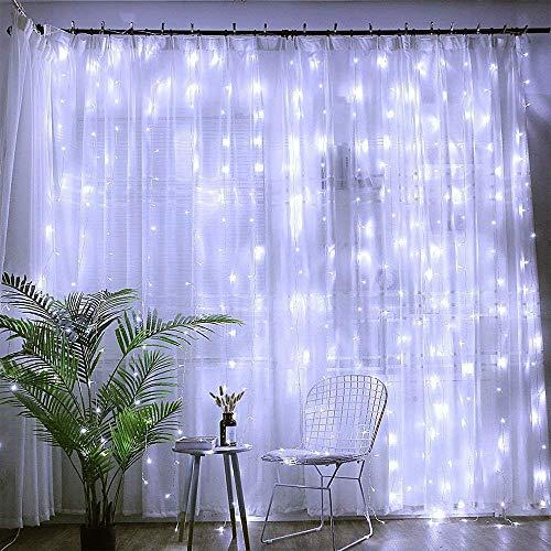 Amazon: Luces de Cortina 200LED 3m* 3m, impermeable