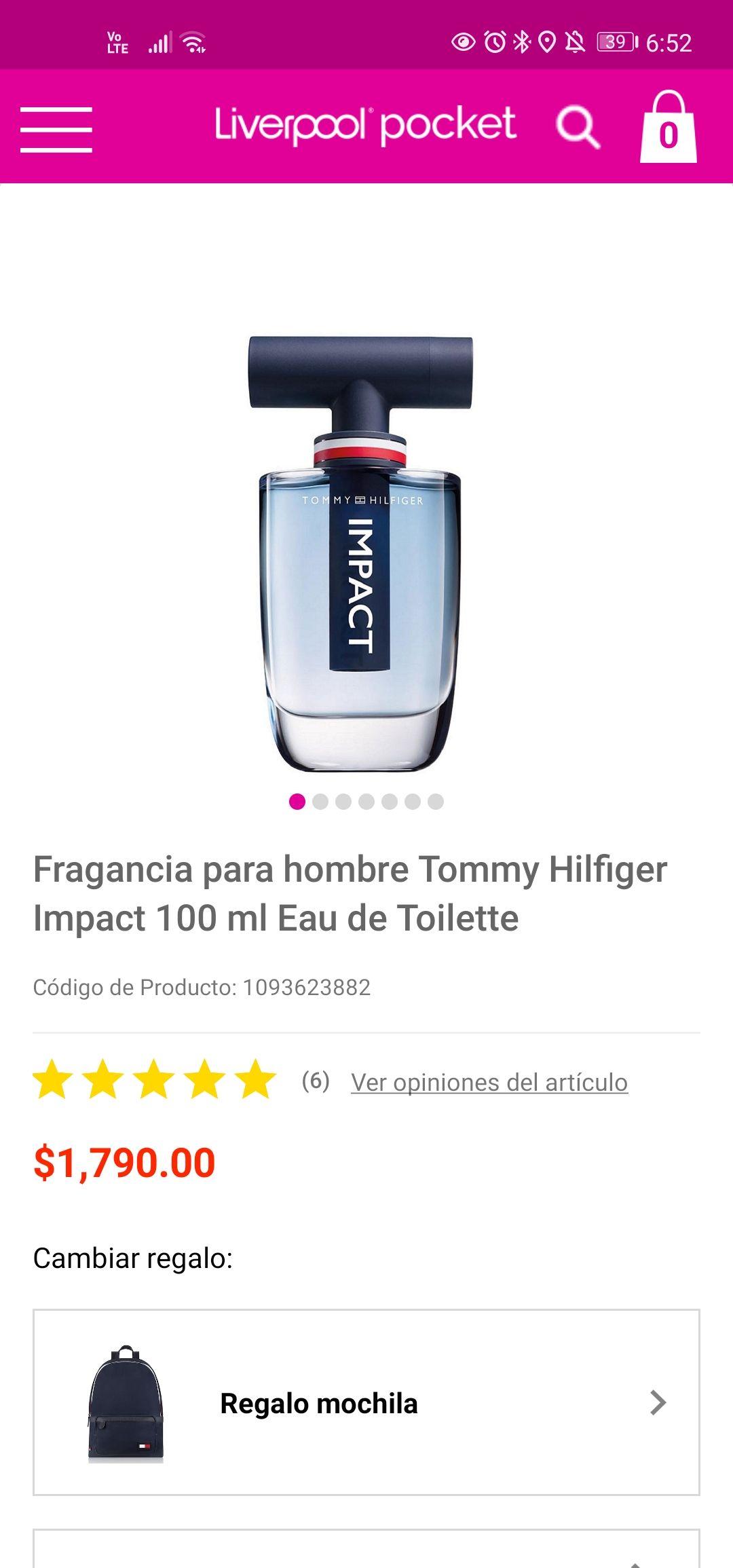 Liverpool: Fragancia Tommy Hilfiger 100 ml Impact con Mochila de Regalo