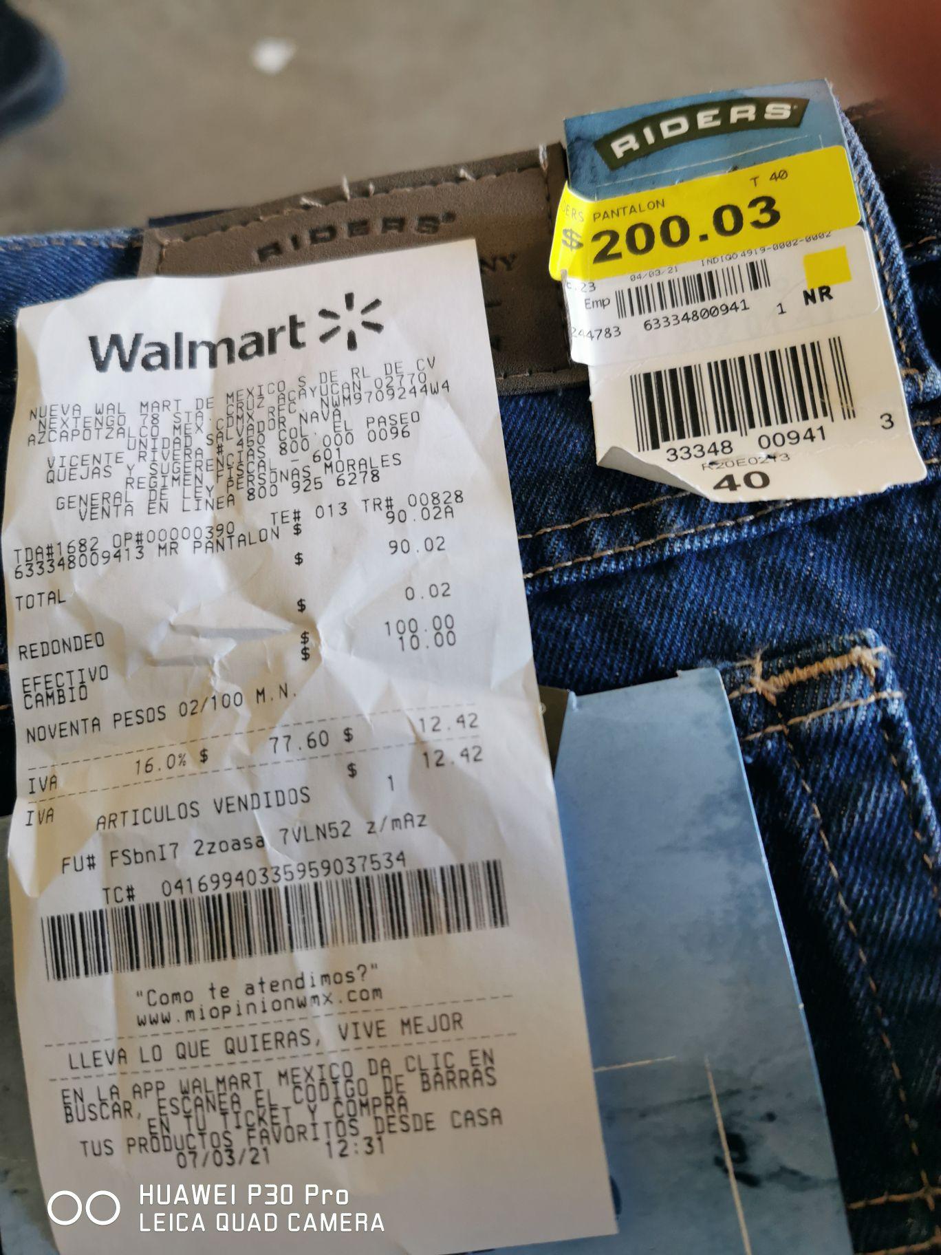 Walmart: Pantalón Oferta de liquidación