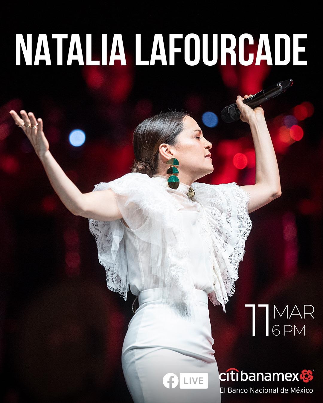 concierto gratuito de Natalia Lafourcade en línea hoy!