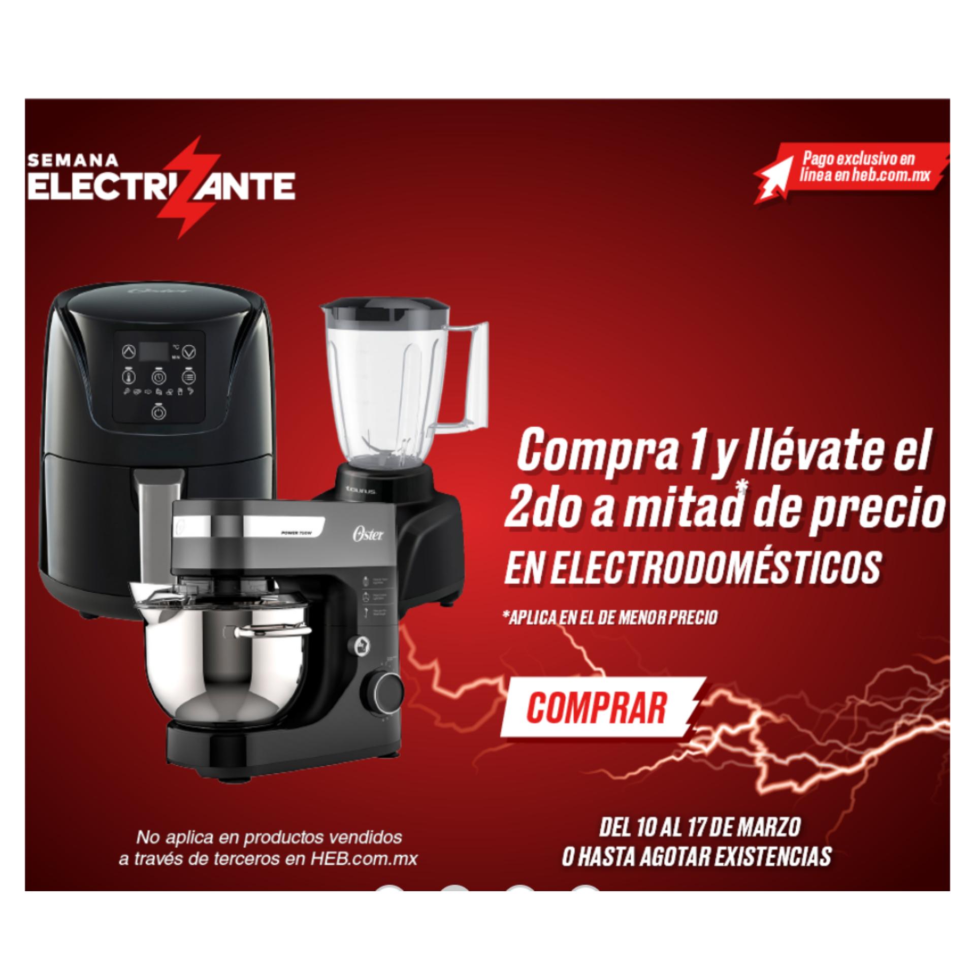 HEB en línea 2 x 1 1/2 en electrodomésticos
