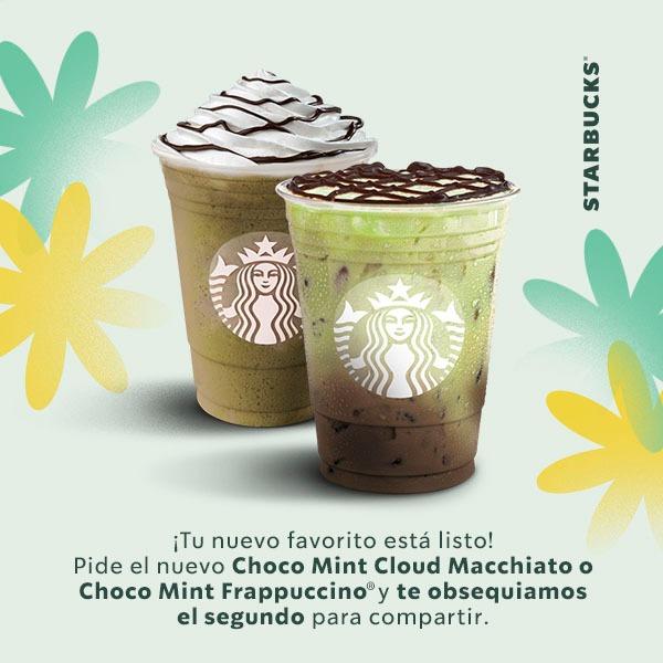 Starbucks: 2x1 EN BEBIDAS CLOUD MACCHIATO O CHOCOMINT (cupón)