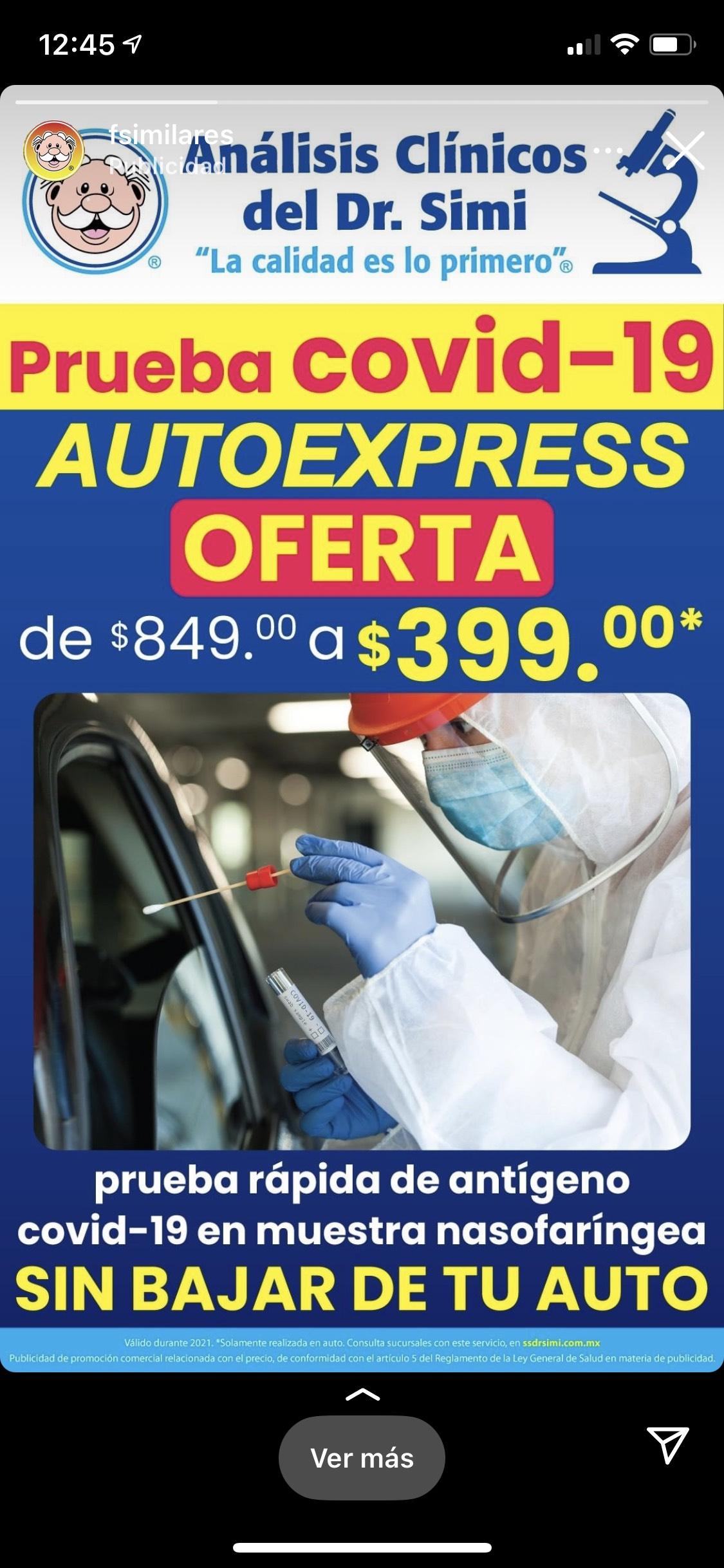 Dr. Simi: Prueba COVID 19 Autoexpress