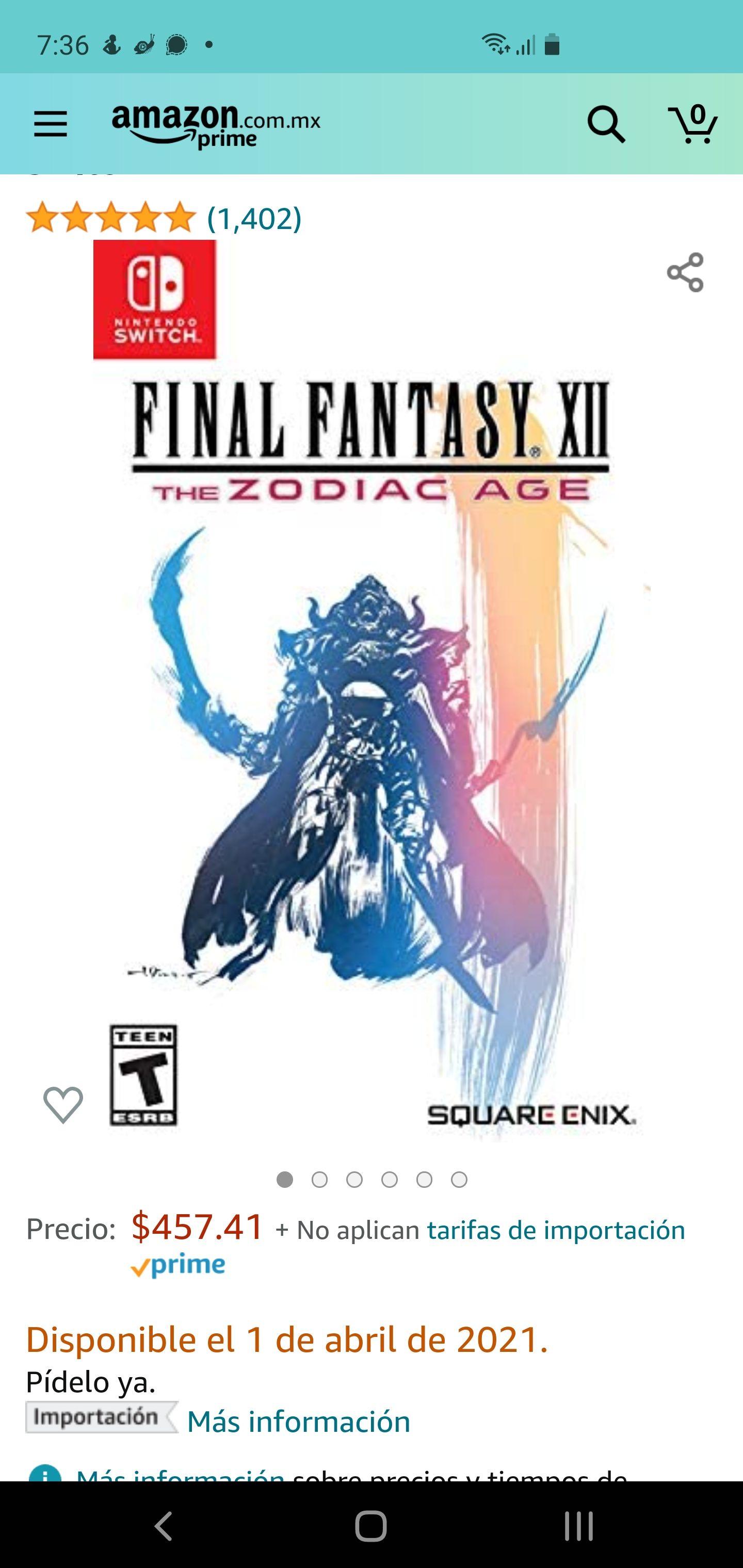 Amazon, Final Fantasy XII SWITCH