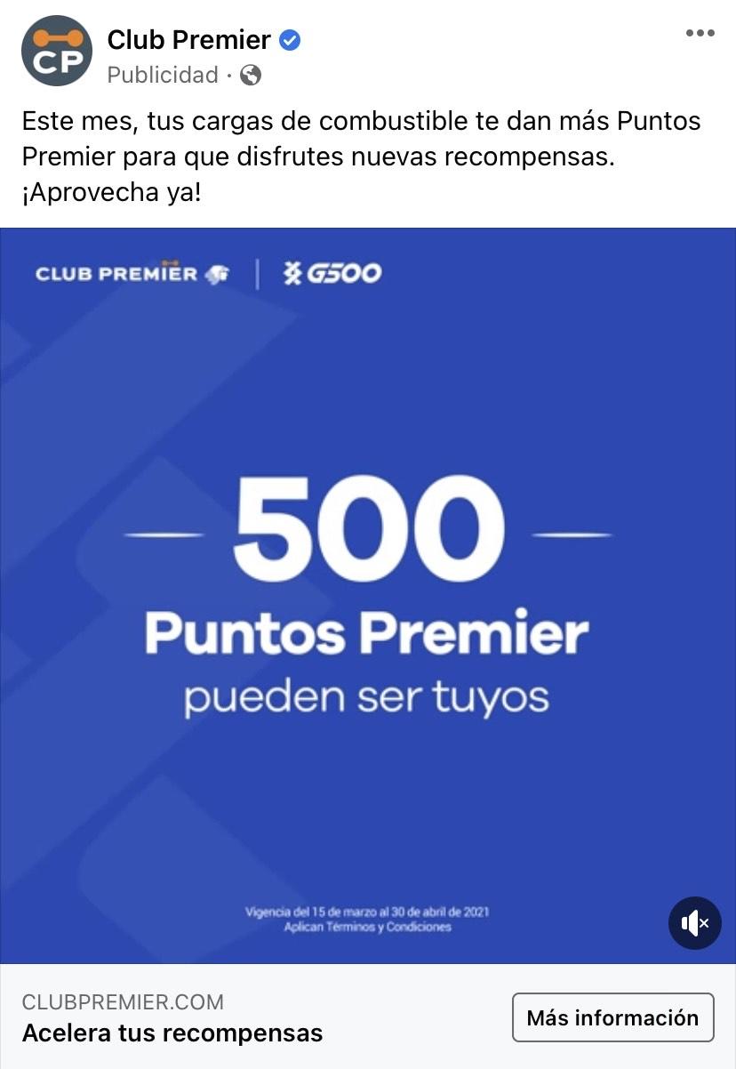 Club Premier: 500 puntos al hacer 3 cargas de gasolina en G500