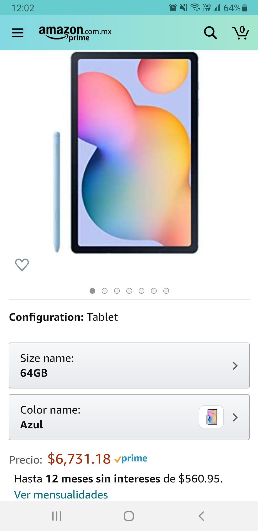 Amazon: Samsung galaxy Tab s6 lite azul y a MSI