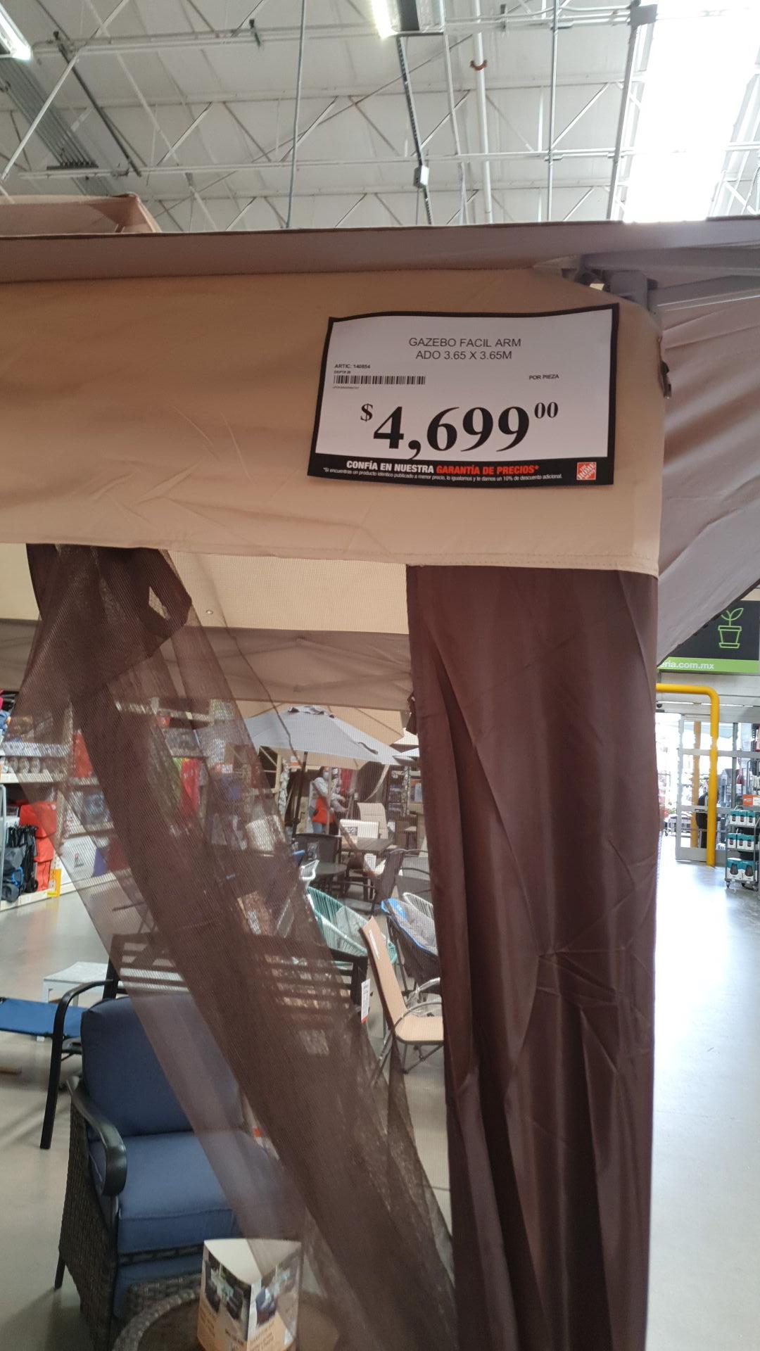 HOME DEPOT TLANEPANTLA: TOLDO DE 3×3 SALE CON LA BONIFICACION DE 1 MES CITIBANAMEX