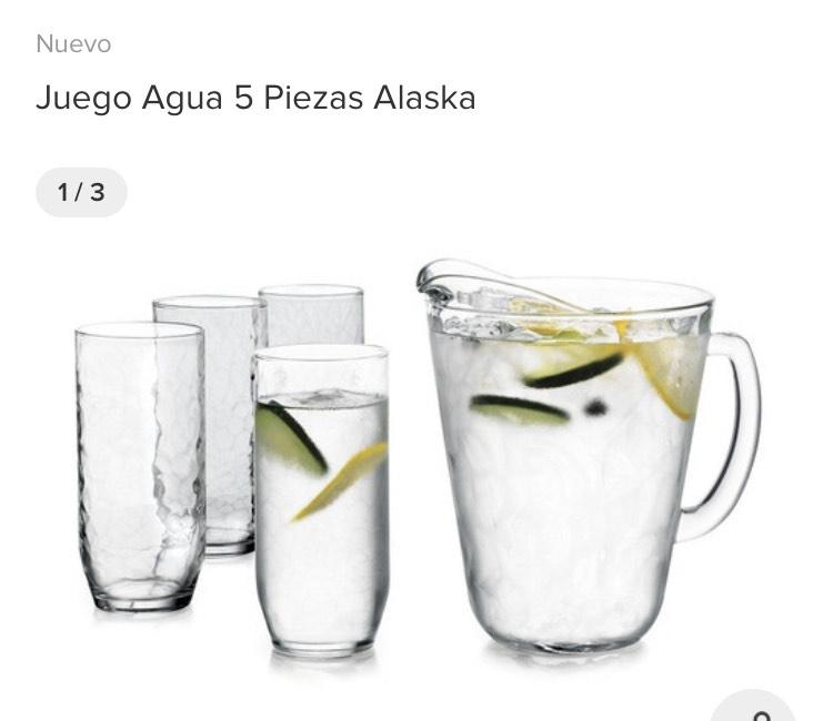 Walmart online: Juego Jarras y Vasos Crisa Alaska Vidrio 7 Piezas