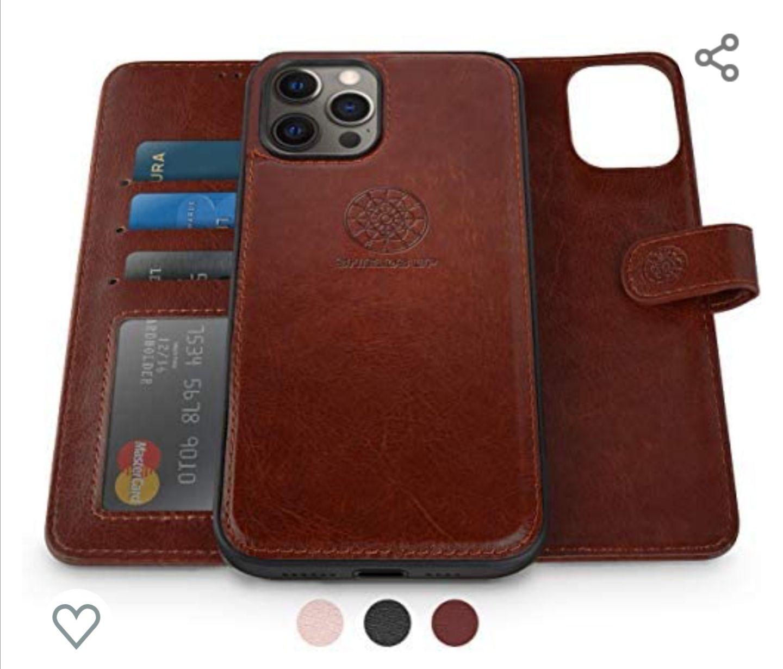Amazon: Funda tipo portafolio 2 en uno para iPhone 11 Pro con ranuras para tarjetas, efectivo e imán (varios colores)