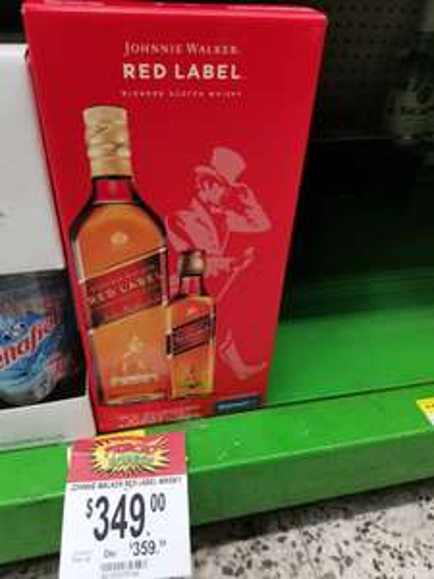 Bodega Aurrera La Viga CDMX: WHISKY JOHNNIE WALKER RED LABEL 1 L + RED LABEL 375 ml