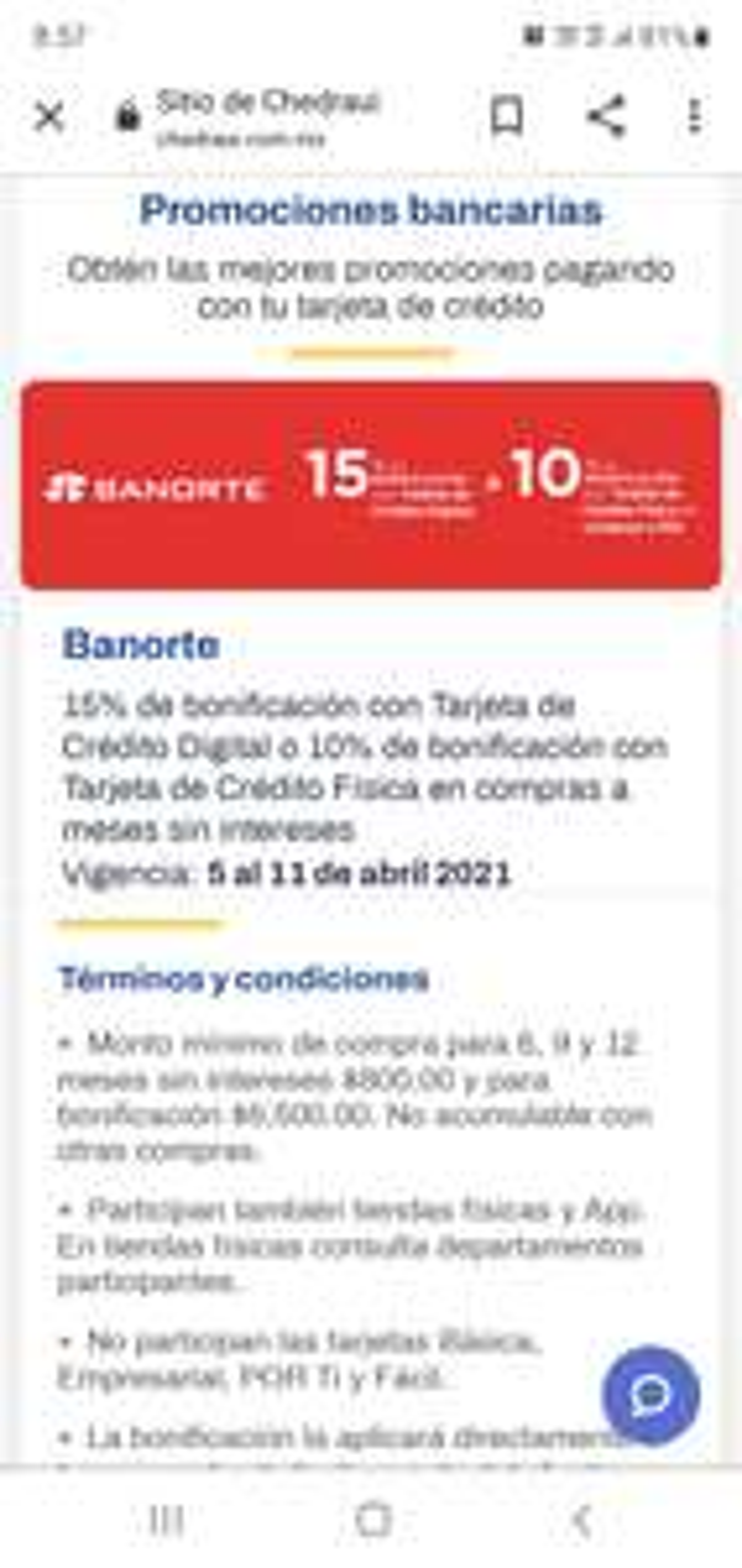 CHEDRAUI: 15% DE BONIFICACION CON TARJETA DE CREDITO DIGITAL BANORTE