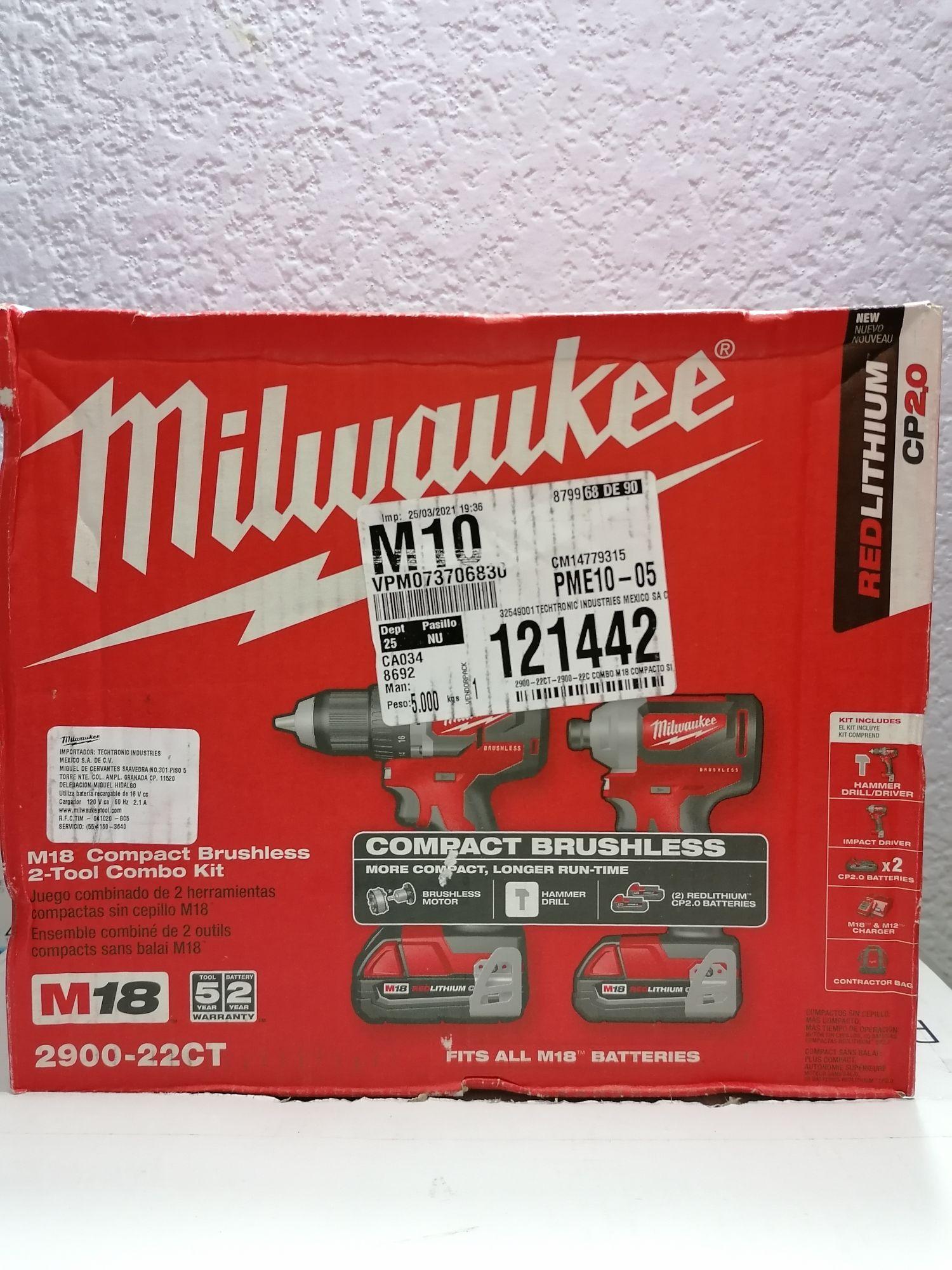 Home Depot Combo Milwaukee
