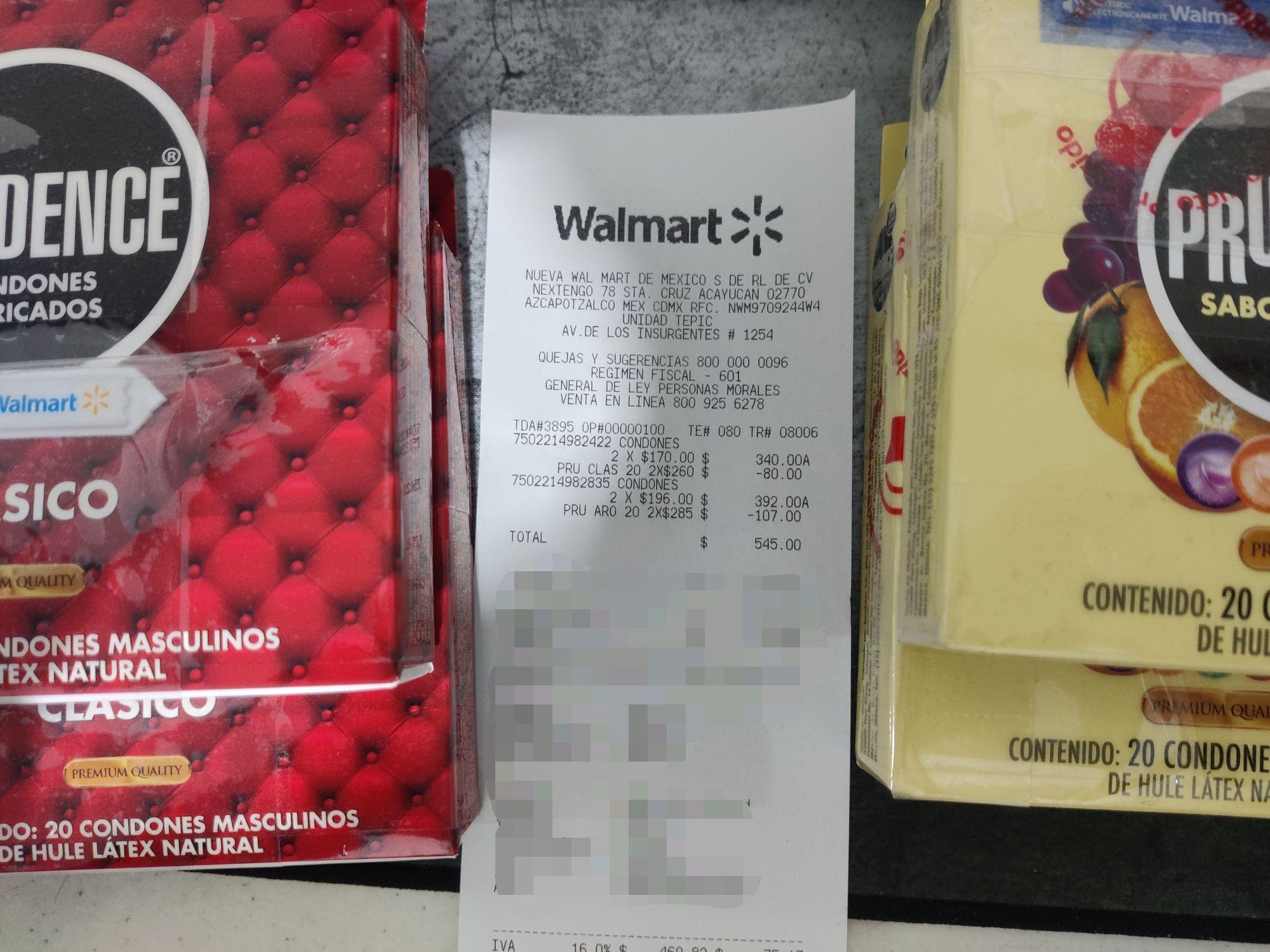 Walmart Tepic: Preservativos prudence 20 piezas. 2x1