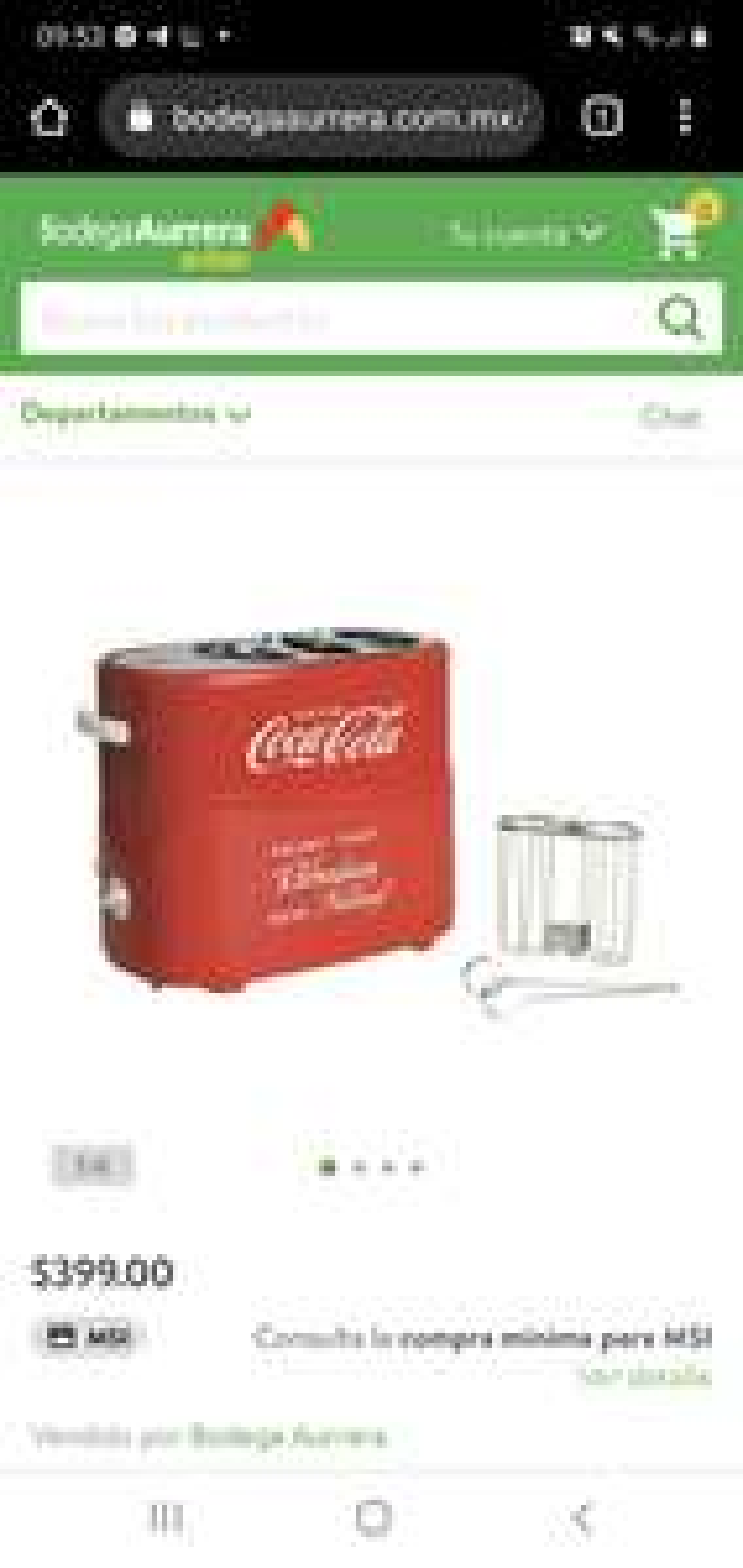 Bodega Aurrerá: Maquina Hot Dog Coca Cola