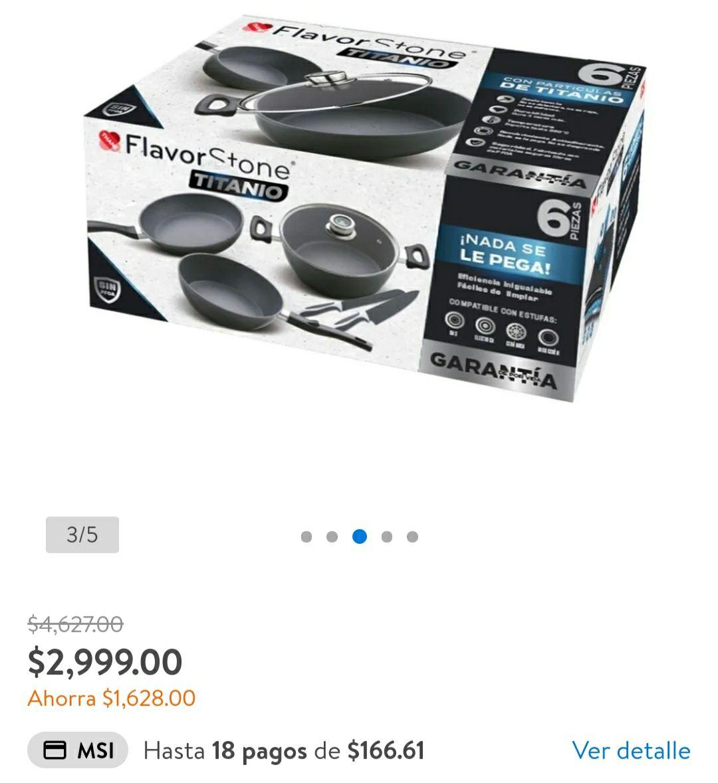 Walmart: Batería flavorstone titanio