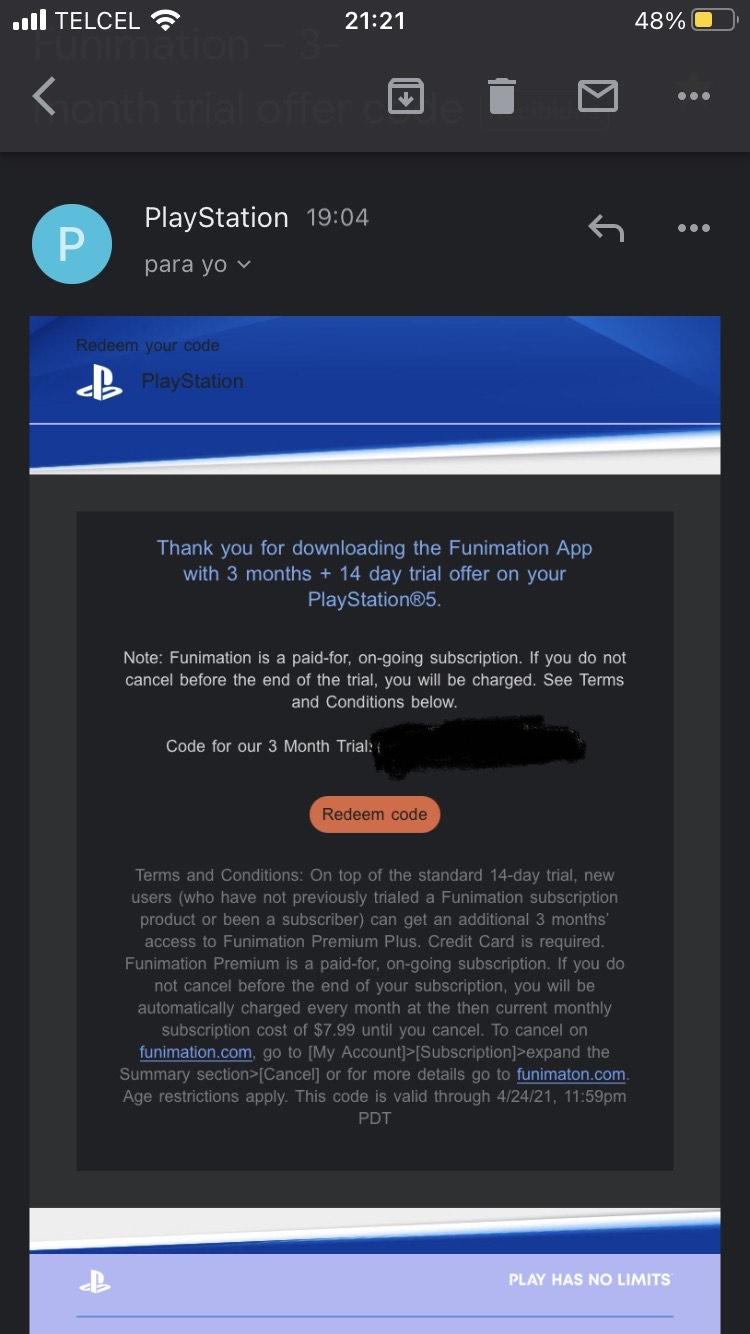 3 meses de Funimation gratis con VPN (Leer descripción)