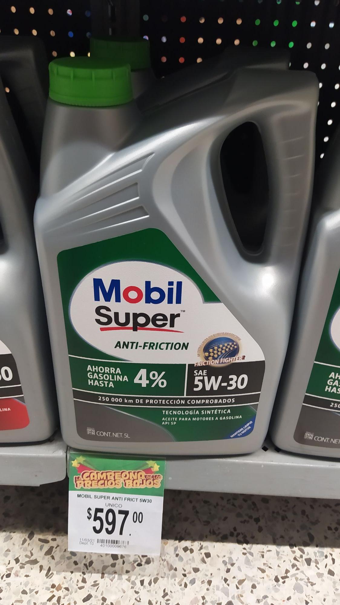 Bodega Aurrerá: Aceite Mobil Súper 5w-30