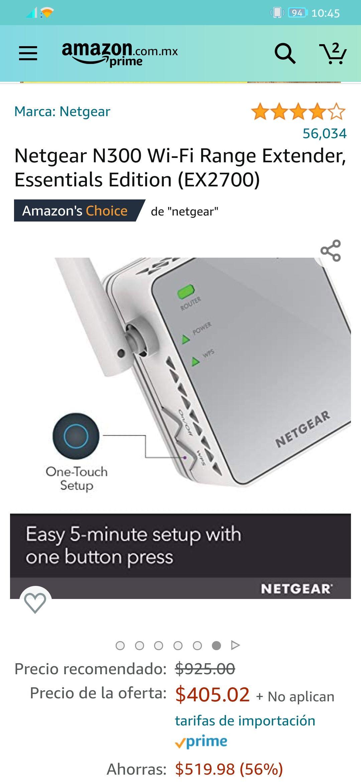 Amazon: Netgear N300 Extender