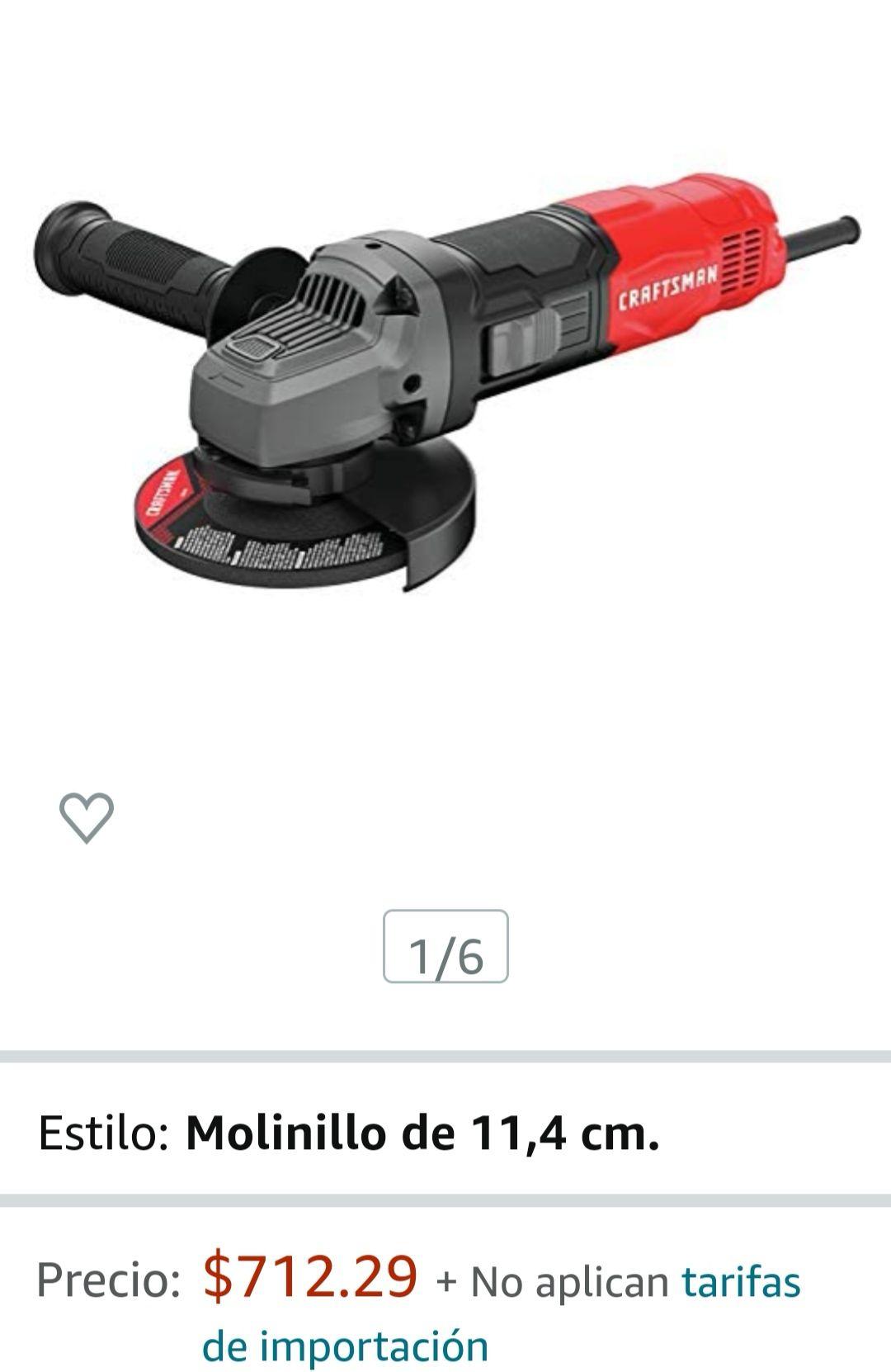 Amazon: Herramienta de amoladora angular pequeña Craftsman de 4 a 1/2 pulgadas, 6 amperios (CMEG100)