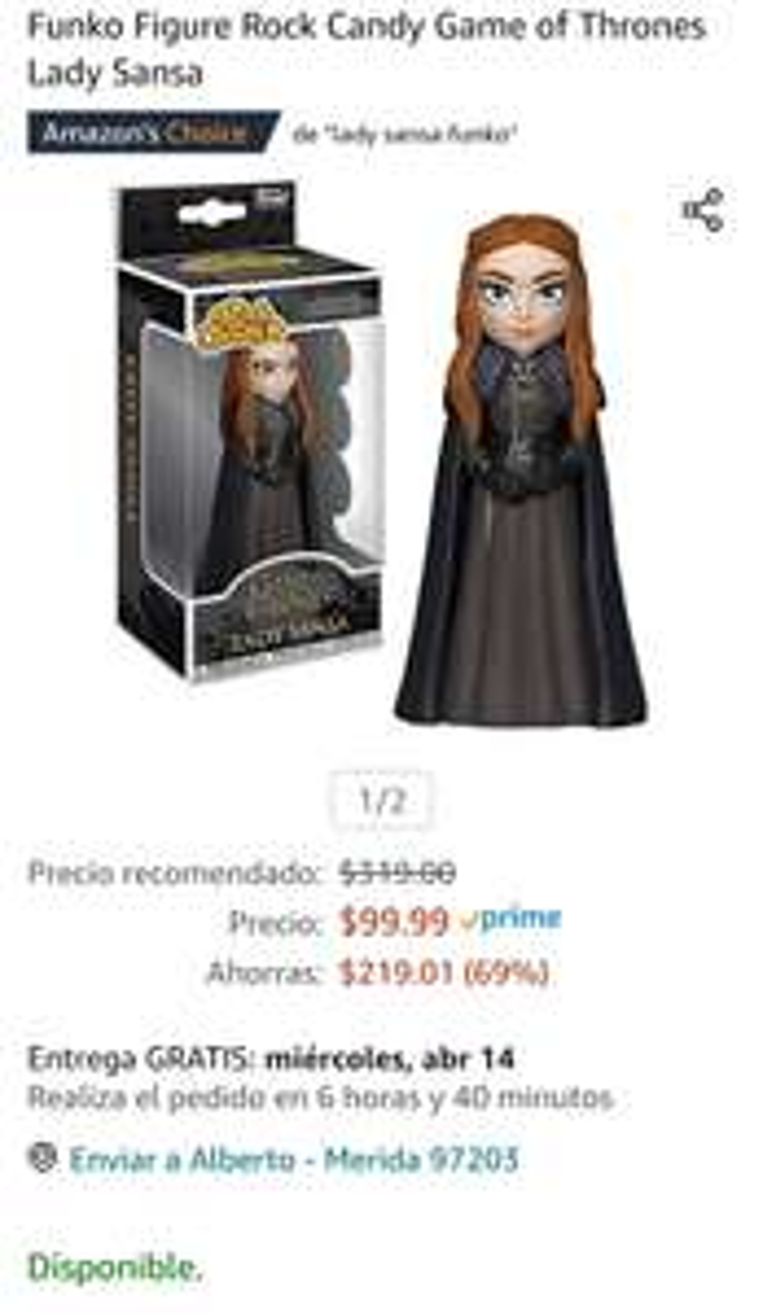 Amazon: Funko GOT Lady Sansa