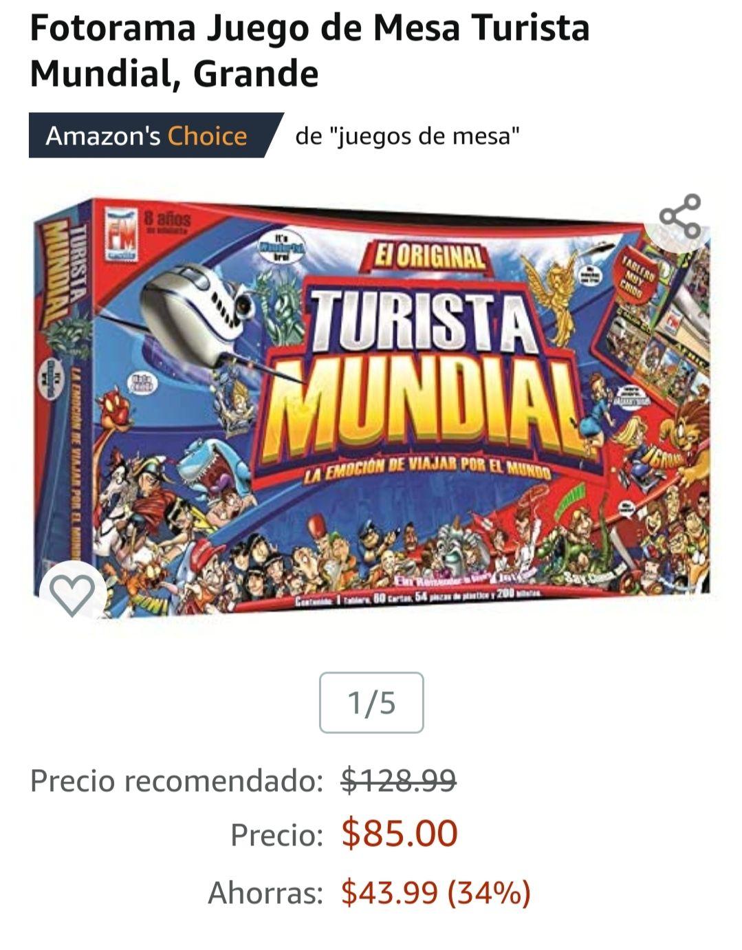 Amazon: Turista mundial grande