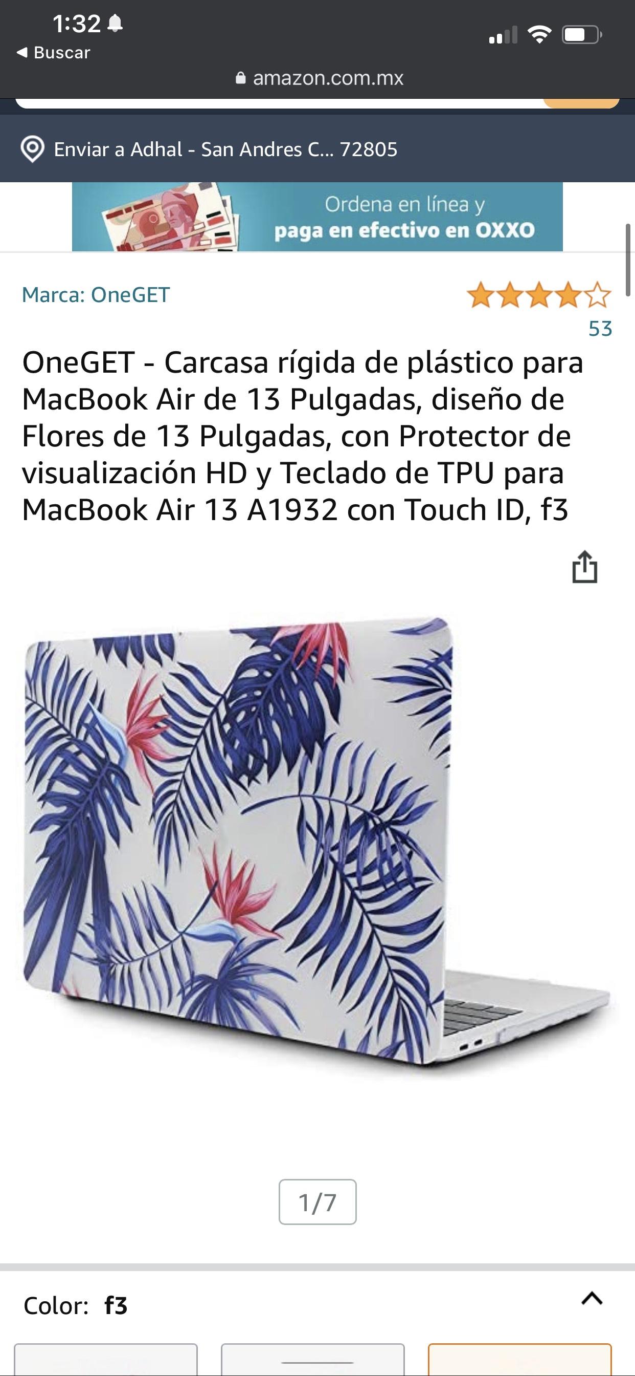 Amazon: Case / Funda para Macbook