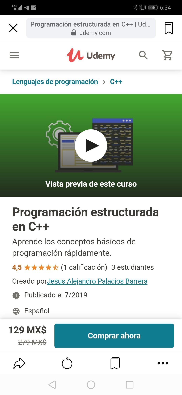 Udemy: Programación estructurada en C++