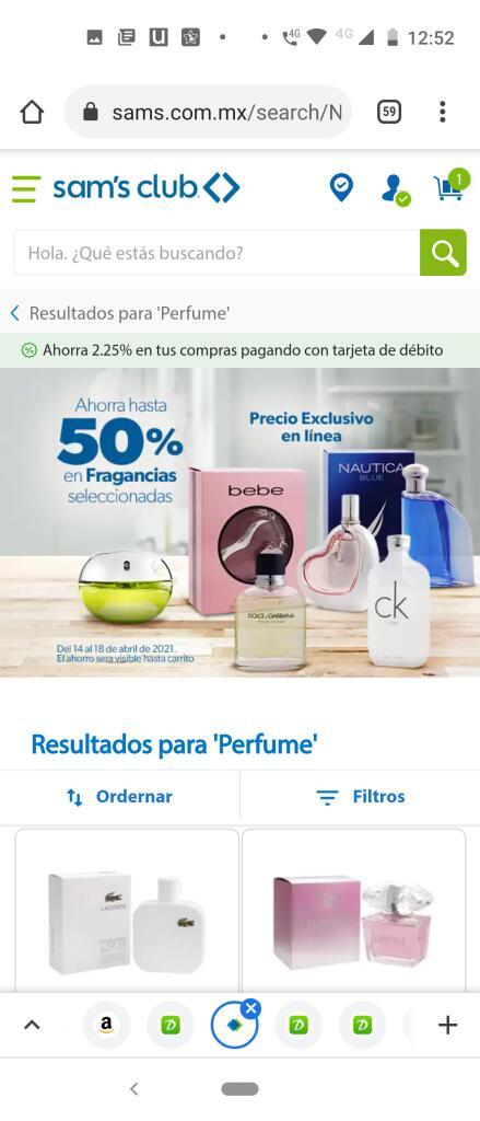Sam's Club: Perfumes hasta con el 50% de descuento
