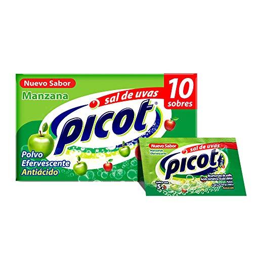 Amazon: Picot Sal de Uvas Antiácido Caja con 10 Sobres (Sabor Frutas Tropicales y Manzana)