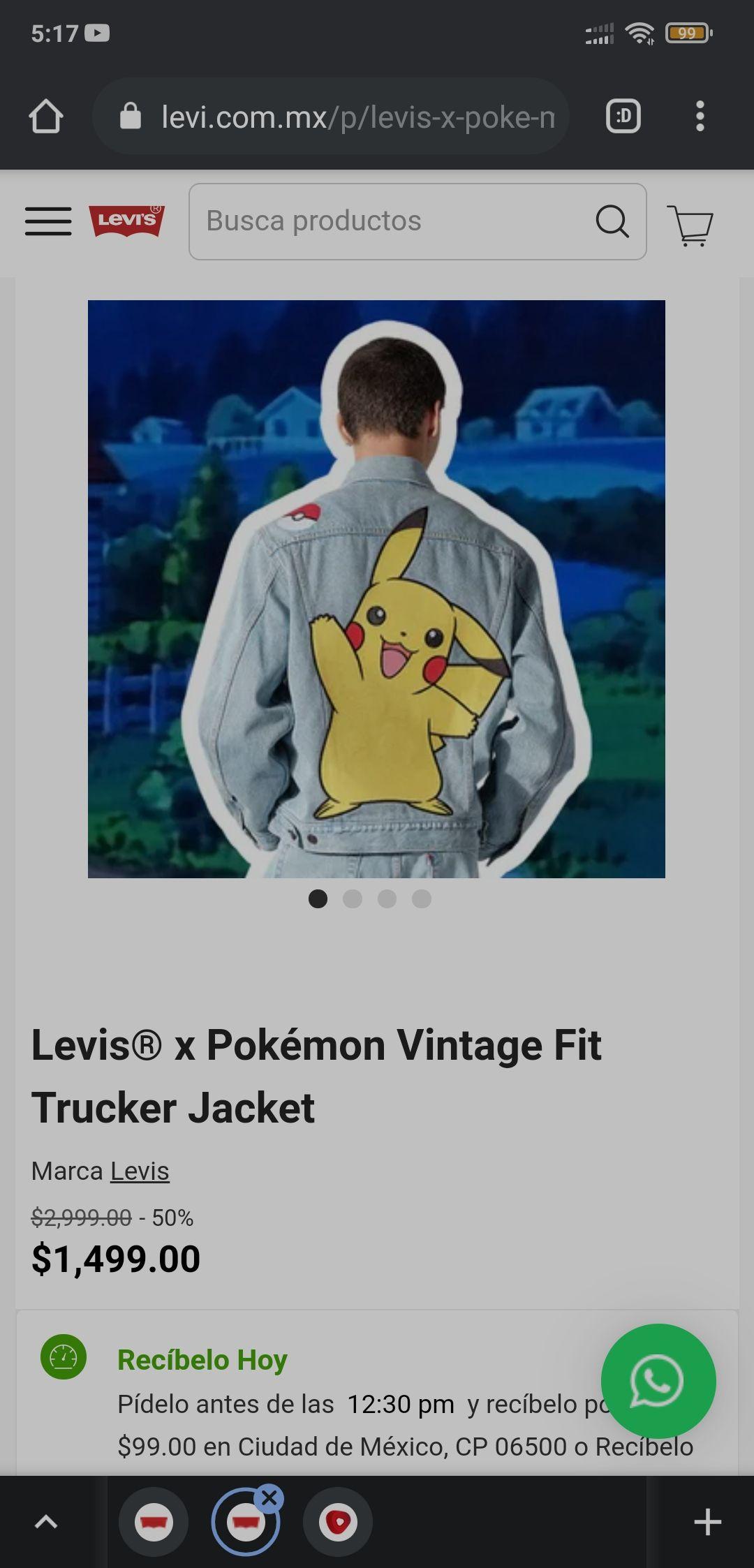 Levis® x Pokémon Vintage Fit Trucker Jacket