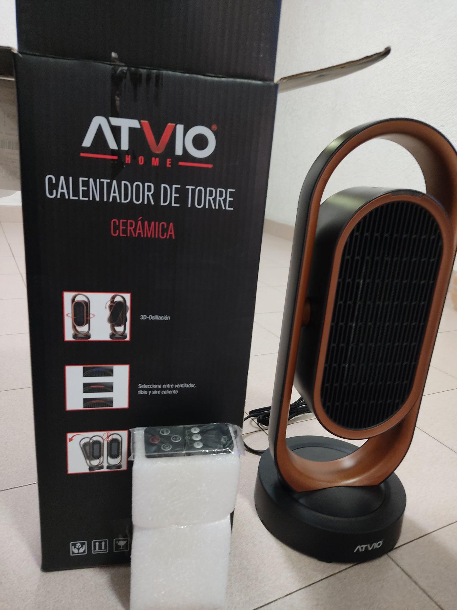 Walmart: Calentador ATVIO 53CM DE ALTO OSCILATORIO