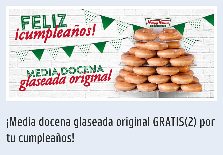 Krispy Kreme: Media docena glaseada original GRATIS por tu cumpleaños con monedero PAYBACK