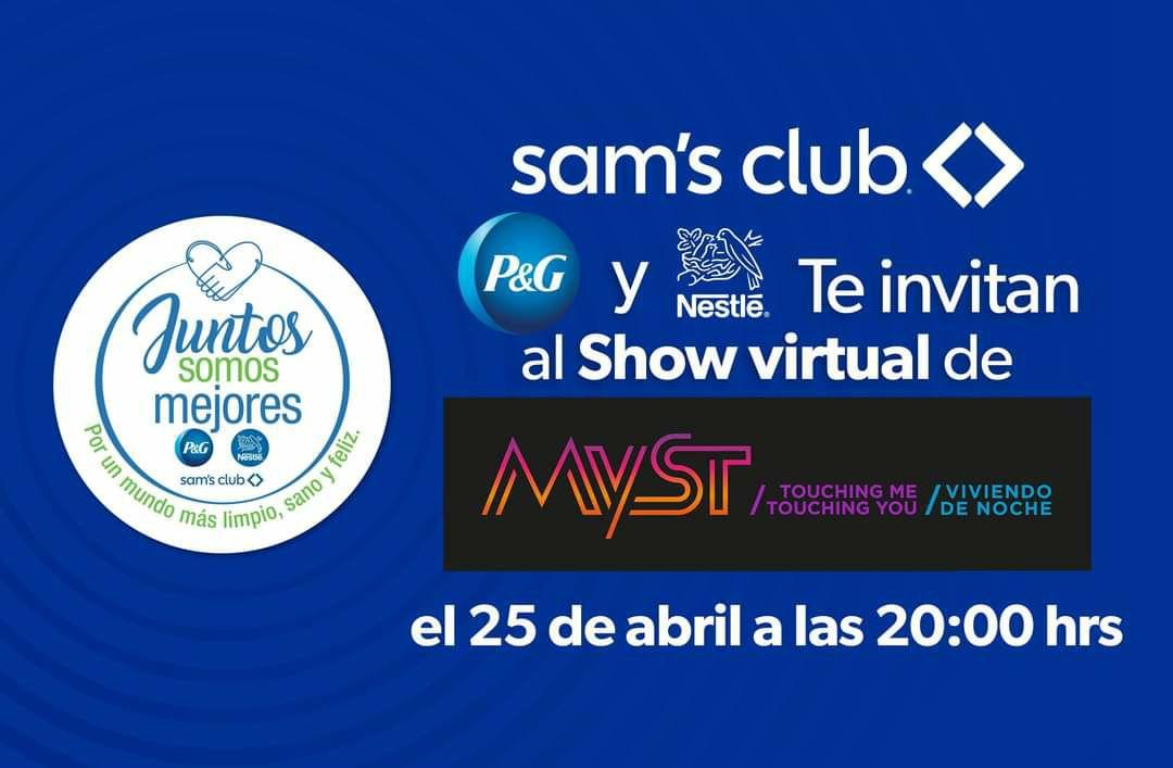 Sam's Club: Nuevo concierto Gratis MYST 30 de Abril