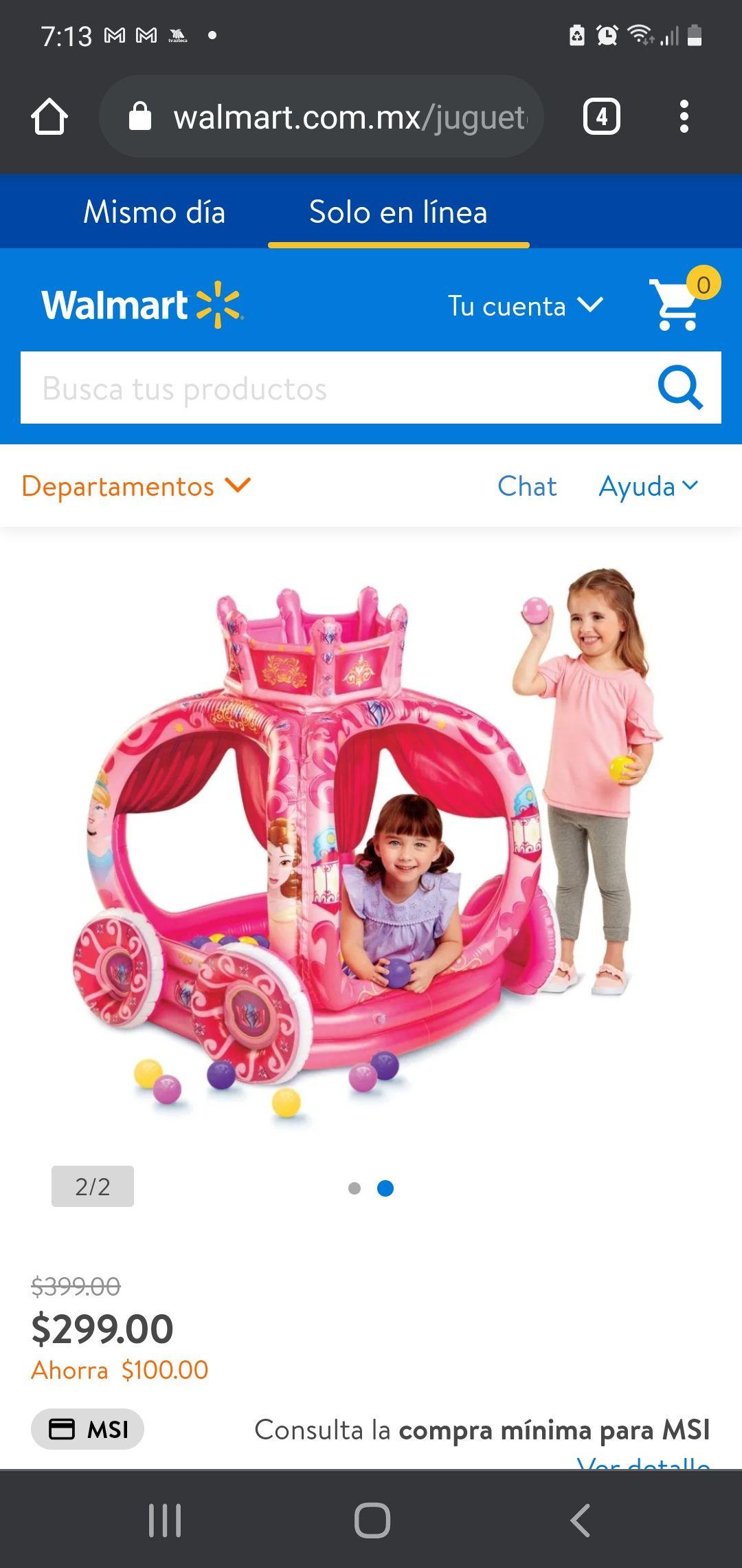 Walmart: Alberca de pelotas Princesas Disney
