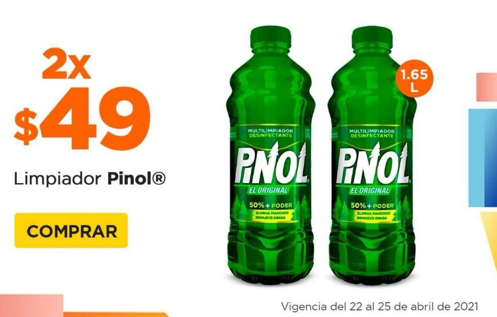 Chedraui: Limpiador multiusos Pinol 1.65 L Original, Floral y Cítrico 2 x $49