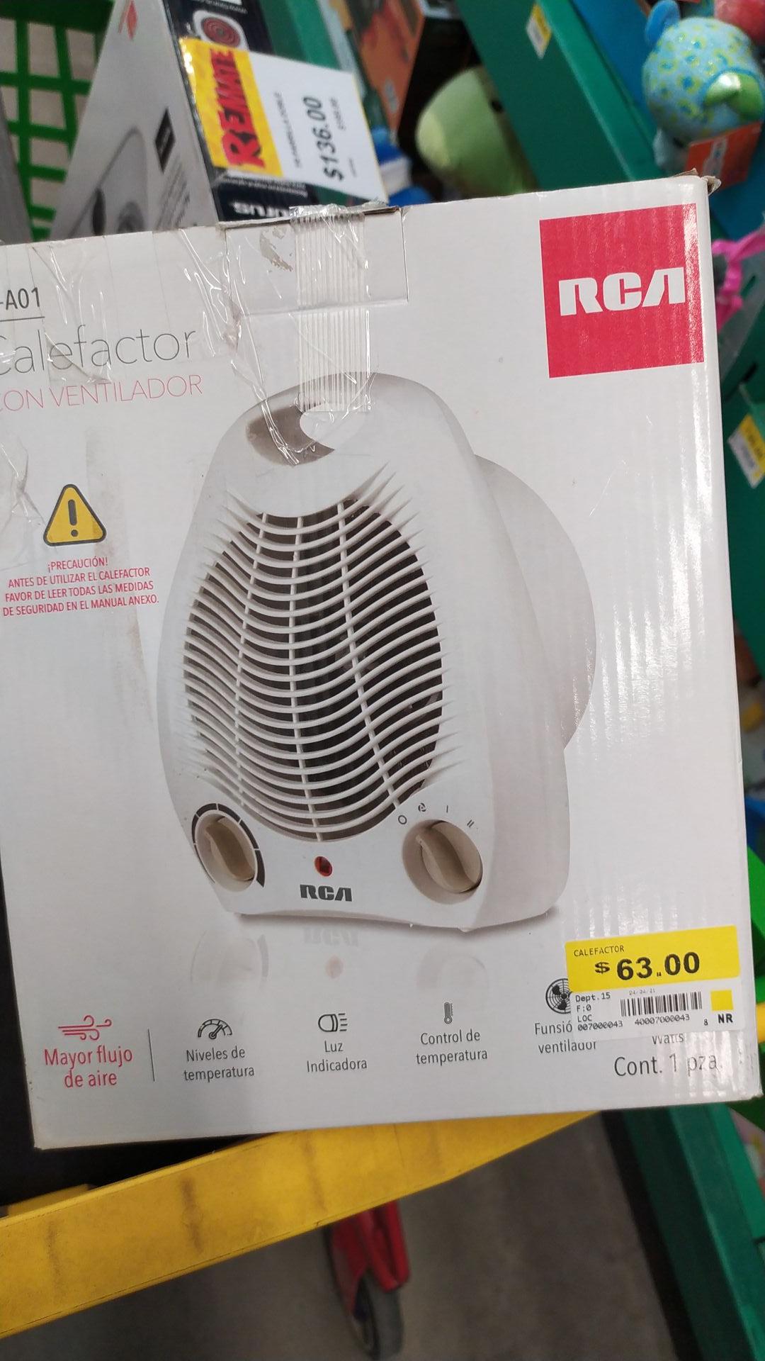 Bodega aurrera - calefactor con ventilador