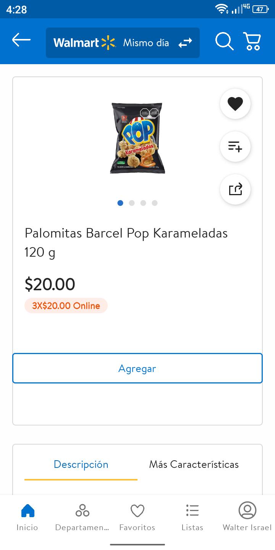 Walmart: Palomitas acarameladas Barcel