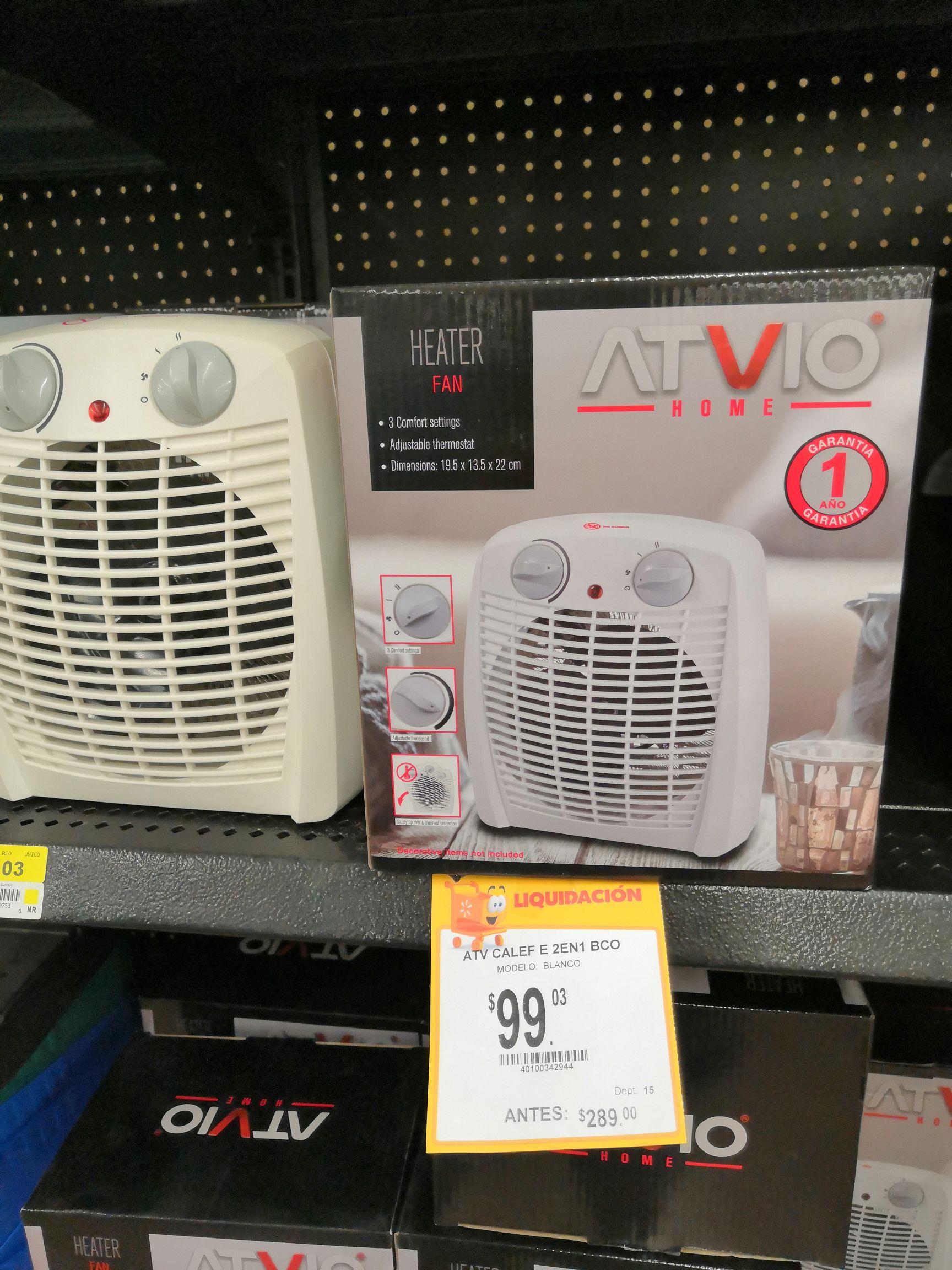 Walmart: Mini ventilador con calefacción
