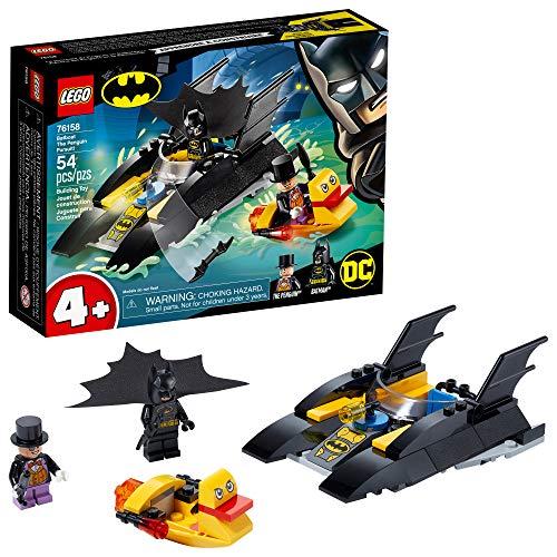 Amazon: LEGO Kit de construcción DC 76158 ¡Cacería del Pingüino en la Batilancha! (55 Piezas)