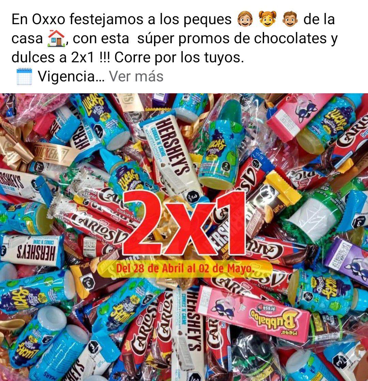 Ofertas en dulces en oxxo del 28 de abril al 2 de mayo
