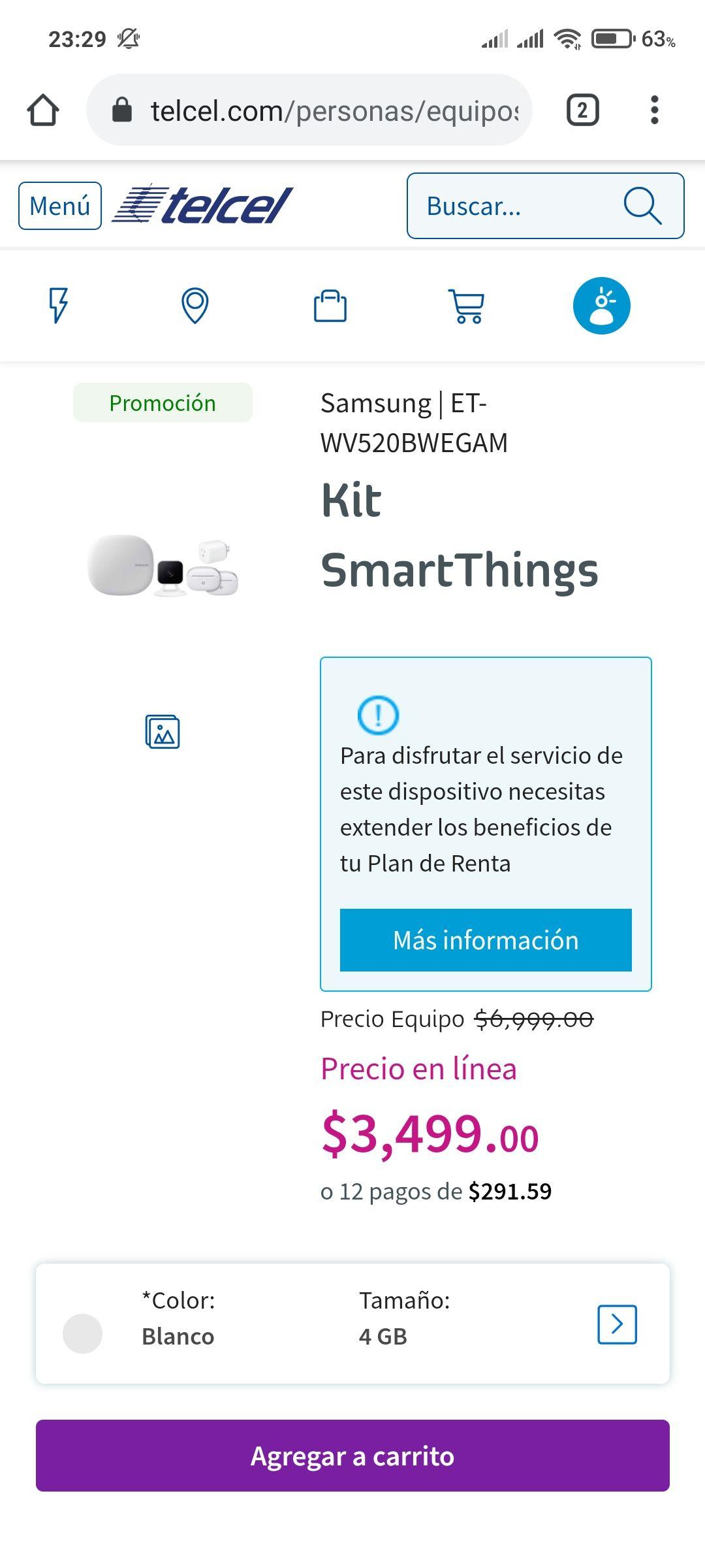 Telcel: Kit SmartThings