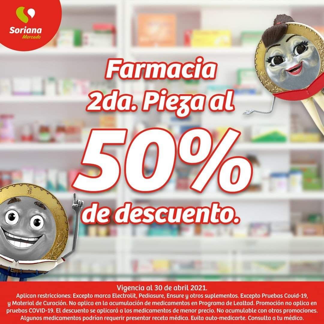 Soriana Mercado y Express: 2 x 1½ en Farmacia