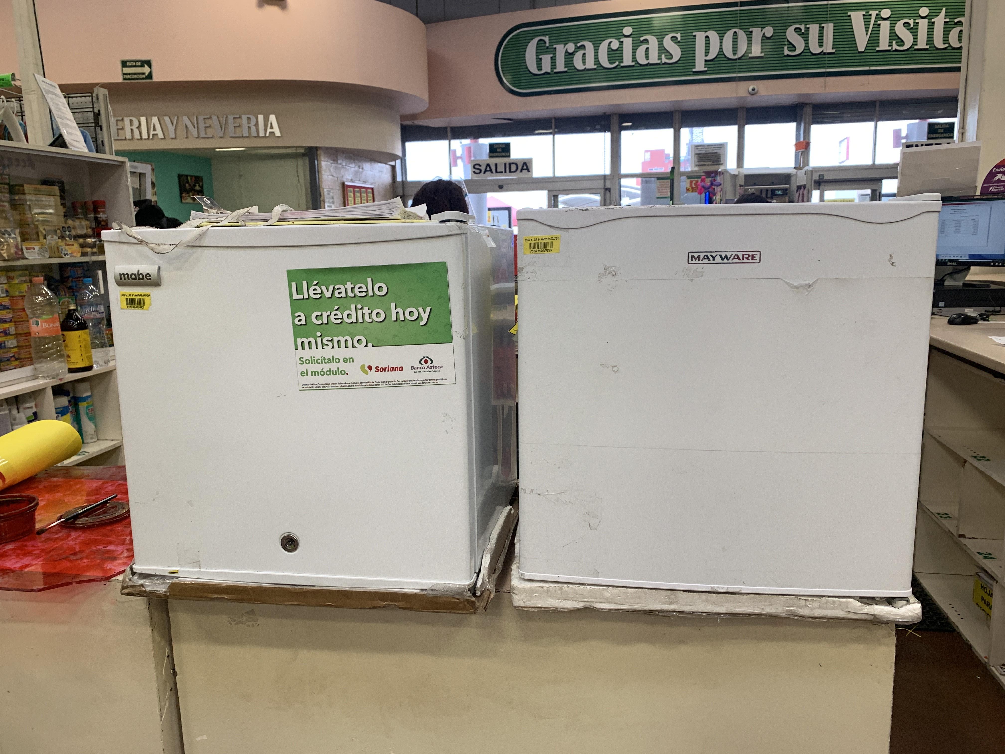 Soriana Ecatepec: FRIGOBAR MAYWARE/ FRIGOBAR MABE Y SECADORA EASY