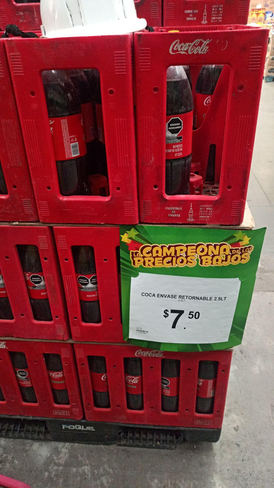 Bodega Aurrera: Coca 2.5 lts retornable