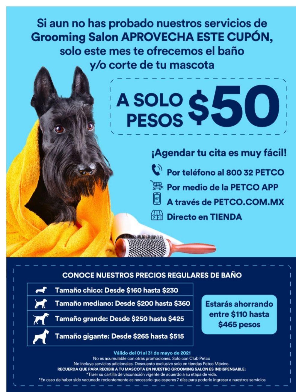 Petco, 1er servicio de baño para tú mascota