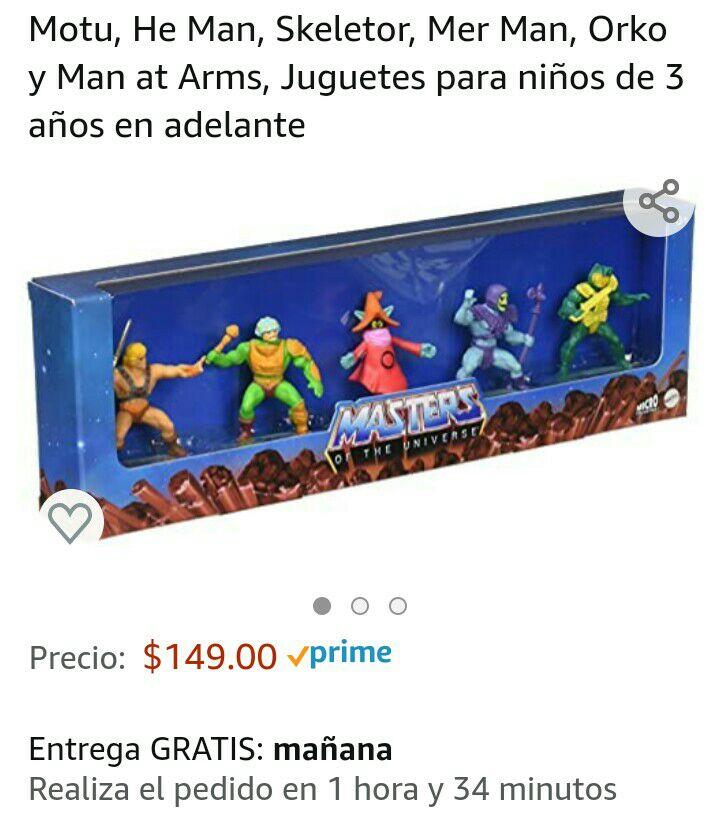Amazon: Set figuras masters of the universe mattel