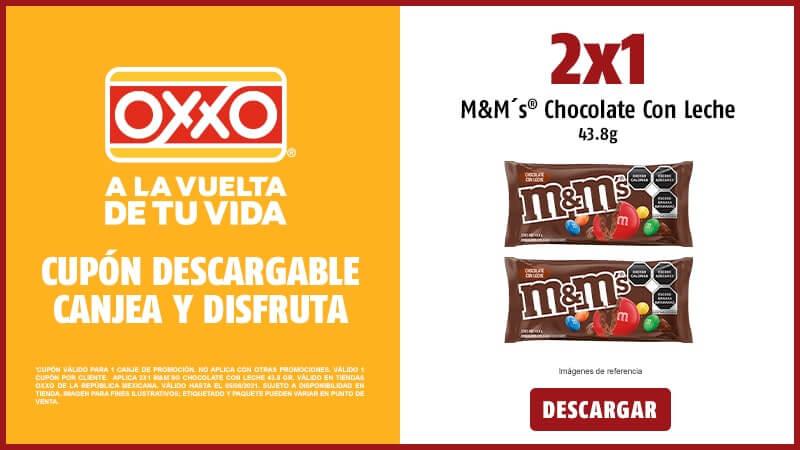 Oxxo: 2x1 M&M chocolate