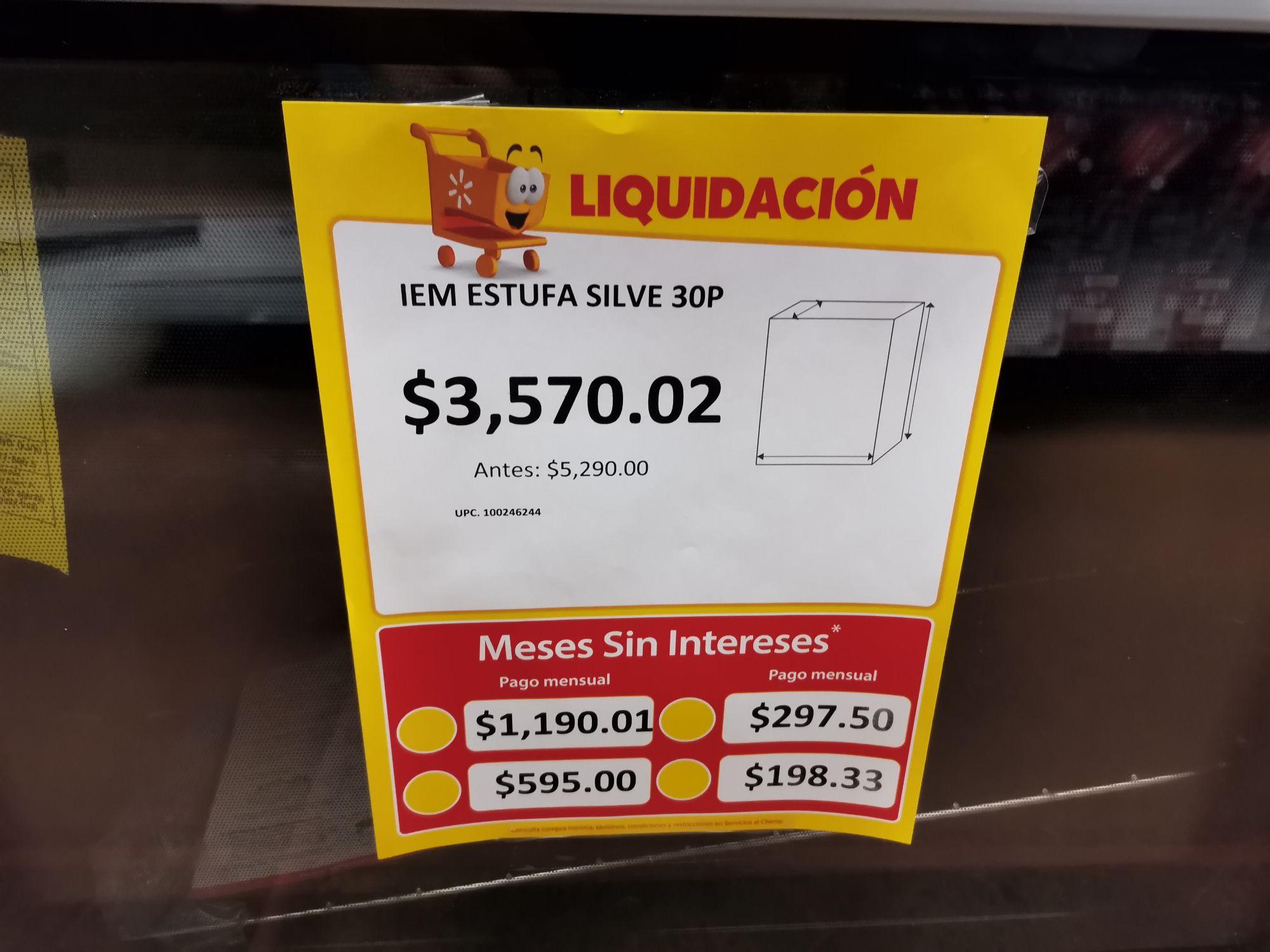 Walmart: Estufa Silver IEM 30P