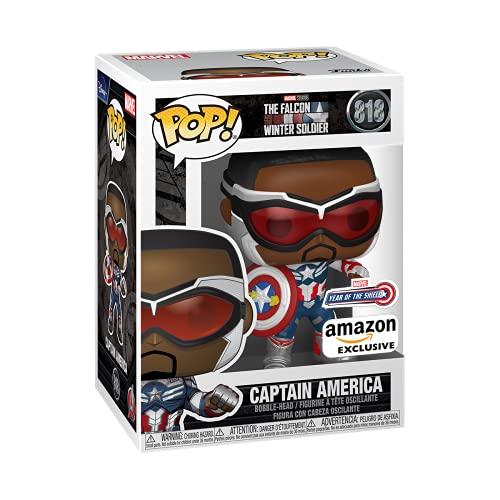 Amazon Preventa: Funko Pop! Marvel: Falcon and The Winter Soldier - Capatain America (Sam Wilson) with Shield, Year of The Shield